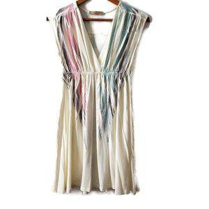 Miuse Women's Sleeveless Surplice Baby Doll Dress